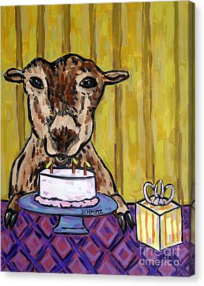 Goat At The Birthday Party Canvas Print by Jay  Schmetz
