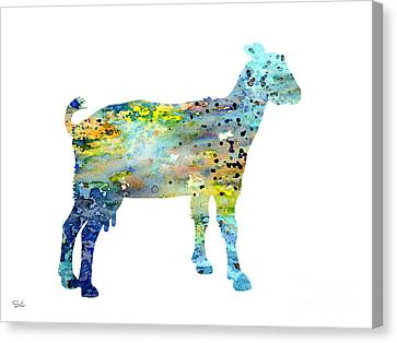 Goat Canvas Print by Watercolor Girl