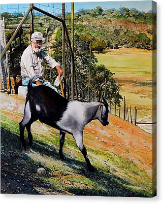 Goat Man Canvas Print