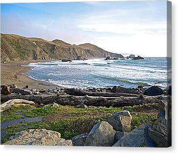 Goat Rock State Beach On The Pacific Ocean Near Outlet Of Russian River-ca  Canvas Print by Ruth Hager