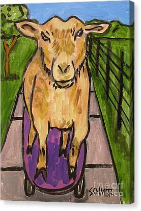Goat Skateboarding Canvas Print by Jay  Schmetz