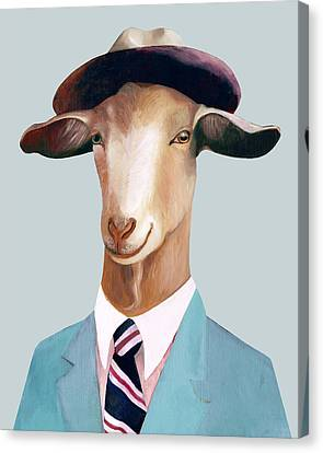 Goat Canvas Print by Animal Crew