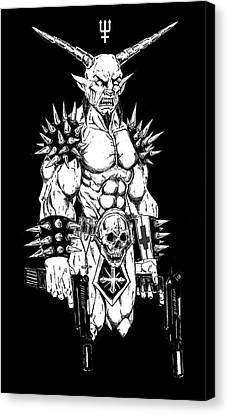 Horror Fantasy Movies Canvas Print - Goatlord Hit List Black by Alaric Barca