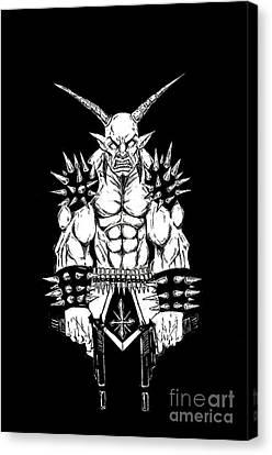 Horror Fantasy Movies Canvas Print - Goatlord Vengeance Black by Alaric Barca