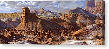 Goblin Valley State Park Panoramic Canvas Print by Mike McGlothlen