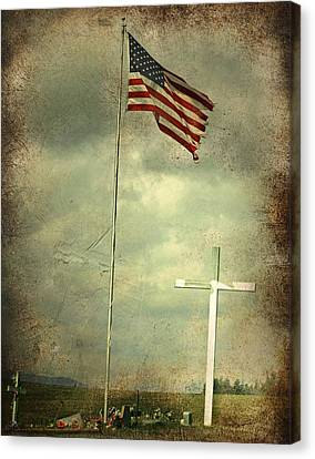 God And Country Canvas Print by Doug Fredericks