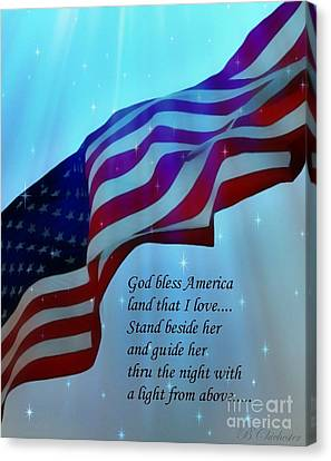 God Bless America Canvas Print by Barbara Chichester