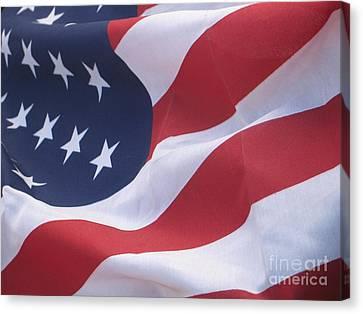 Canvas Print featuring the photograph God Bless America by Chrisann Ellis