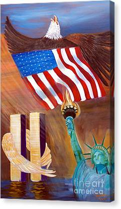 Tolan Canvas Print - God Bless America by To-Tam Gerwe