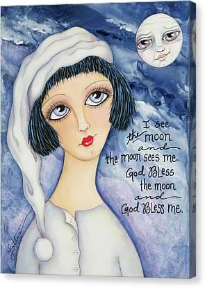God Bless Me Canvas Print by Joann Loftus