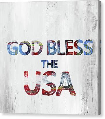 God Bless Usa Canvas Print by Pamela J. Wingard