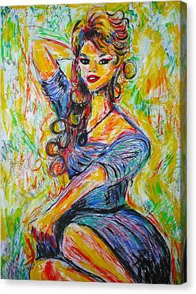 God Created Woman Canvas Print by Ericka Herazo