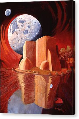 Canvas Print featuring the painting God Is In The Moon by Art James West