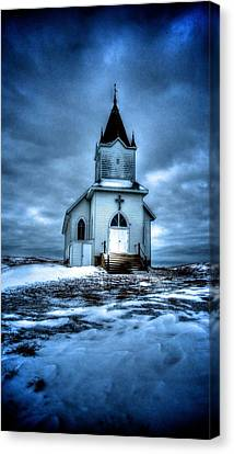 Canvas Print featuring the photograph God It's Cold by Kevin Bone