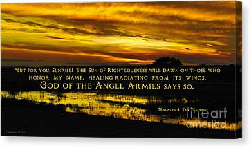 God Of Angel Armies Canvas Print by Constance Woods