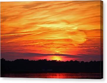 God Paints The Sky Canvas Print
