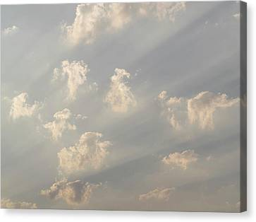Crepuscular Rays Canvas Print - God Rays And Clouds, Okavango Delta by Panoramic Images