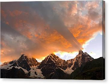 Crepuscular Rays Canvas Print - God Rays, Crepuscular Rays, Clouds by Howie Garber