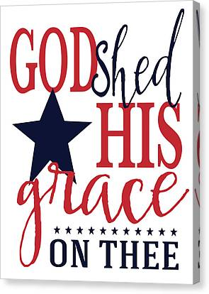 God Shed His Grace Canvas Print by Alli Rogosich