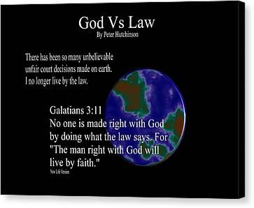 God Vs Law Canvas Print