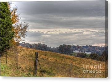 Hdr Landscape Canvas Print - God Watches From Above by Sherri Duncan