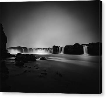 Canvas Print featuring the photograph Godafoss by Frodi Brinks