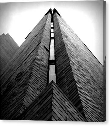 Goddard Stair Tower - Black And White Canvas Print