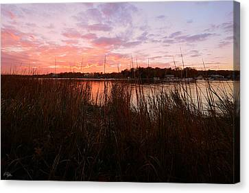 Goddard Sunset Canvas Print by Lourry Legarde