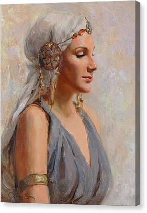 Braids Canvas Print - Goddess by Anna Rose Bain