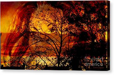 Goddess At Sunset Canvas Print