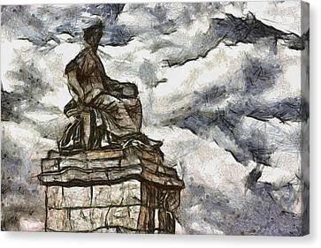 Goddess Canvas Print by Ayse Deniz
