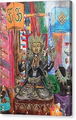 Buddha Goddess Canvas Print by Chrissey Dittus