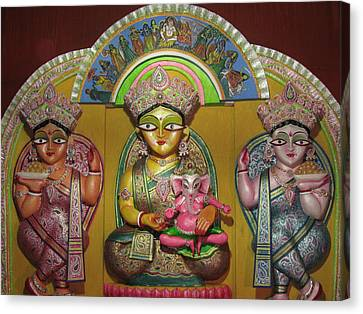 Goddess Durga Canvas Print by Pradipkumarpaswan