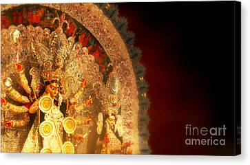 Goddess Durga Canvas Print by Prajakta P
