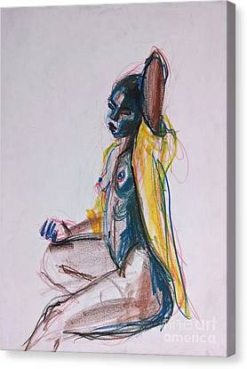 Canvas Print featuring the drawing Goddess by Gabrielle Wilson-Sealy