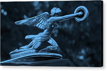 Canvas Print featuring the photograph Goddess Hood Ornament  by Patrice Zinck