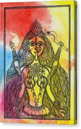 Goddess Kali Canvas Print by Shishu Suman