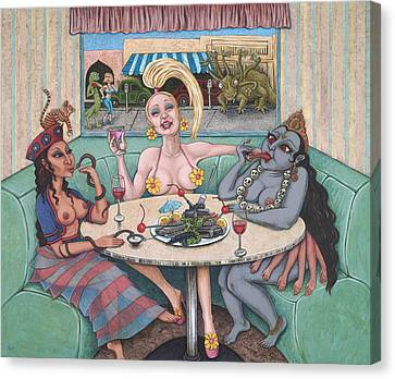 Goddess Lunch Canvas Print