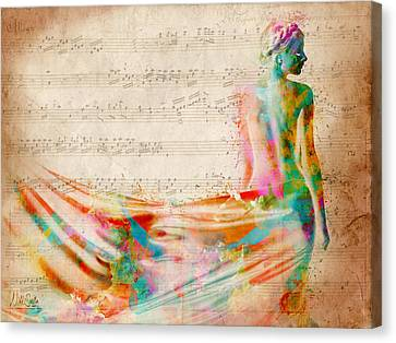 Melody Canvas Print - Goddess Of Music by Nikki Smith