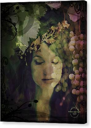 Goddess Of Nature Canvas Print by Absinthe Art By Michelle LeAnn Scott