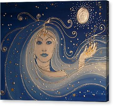 Goddess Of Night Canvas Print by Angie Livingstone