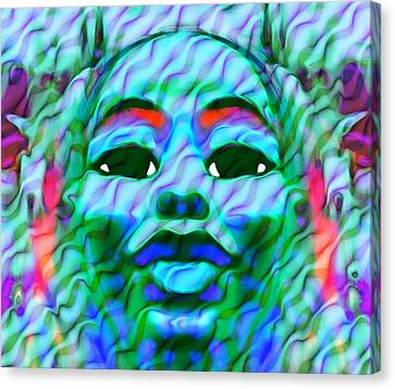 Goddess Oshun 2 Canvas Print by Devalyn Marshall