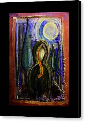 Goddess Under The Cypress Moon Canvas Print by Mimulux patricia no No