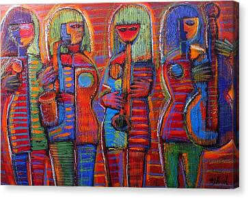 Cardboard Canvas Print - Goddess's Of Music Bring Us Jazz by Gerry High