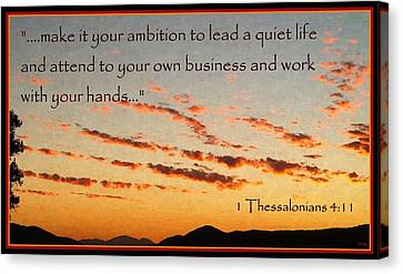 Godly Ambition Canvas Print by Glenn McCarthy Art and Photography