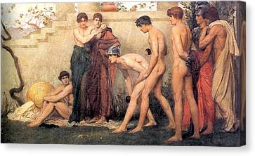 Gods At Play Canvas Print by William Blake Richmond