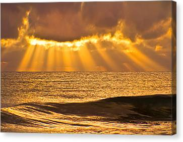 God's Eyelashes Canvas Print by Debra and Dave Vanderlaan