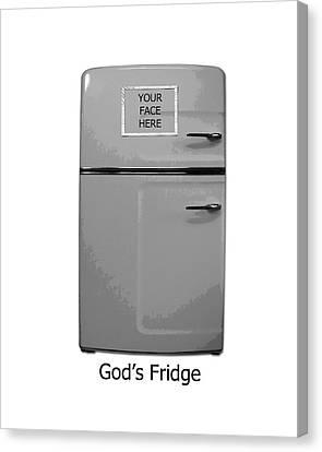 God's Fridge Canvas Print by Stephanie Grooms