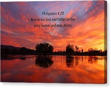 God's Glory Canvas Print