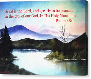 God's Holy Mountian Canvas Print by Zelma Hensel